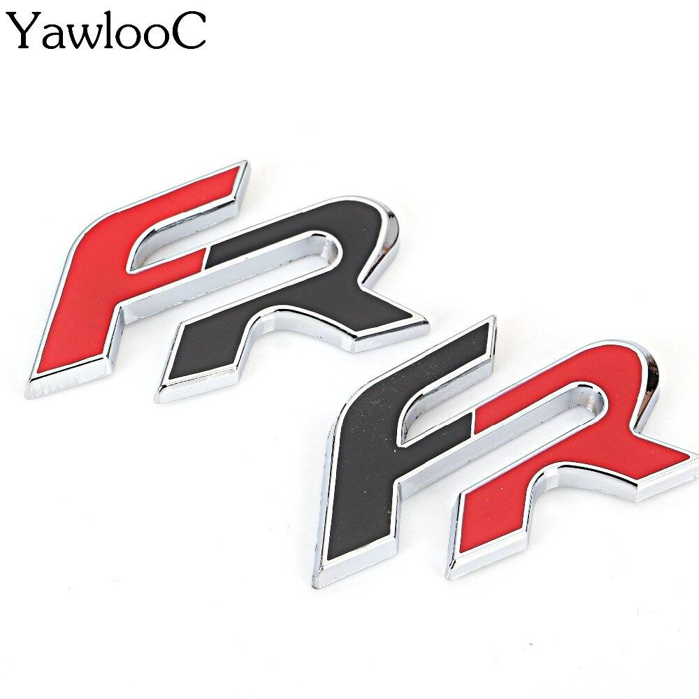 Insigne demblème de voiture 3D FR, autocollants en métal, pour Seat Leon FR + Cupra, Ibiza Altea Exeo, accessoires de voiture de course