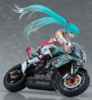 Figma 233 Vocaloid Racing Miku 2013 EV MIRAI Motorcycle Ride Figure Toy Doll Set Toy Collectibles