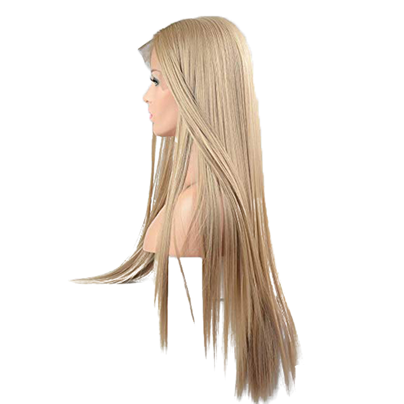 DOROSY HAIR 13*6 Inch Lace Full Long Blonde Wigs For Women kanekalon Synthetic Lace Front Wig Straight Real Natural Available