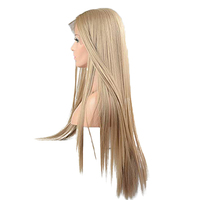 DOROSY HAIR 13*6 Inch Lace Full Long Blonde Wigs For Women Synthetic Lace Front Wig Straight Real Natural Available