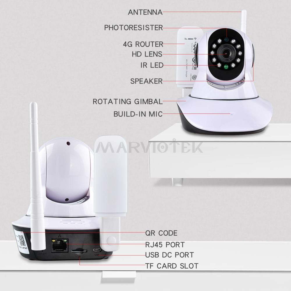 IP kamera wifi 720P pa tel Wi-Fi kamera wifi Mbikëqyrje videove 360 - Siguria dhe mbrojtja - Foto 2