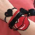 Go2boho Dropshipping Cuff Bracelet Pink MIYUKI Bracelets Colorful Japan Seed Bead Adjustable Lace-up Pulseira Women Jewelry Gift