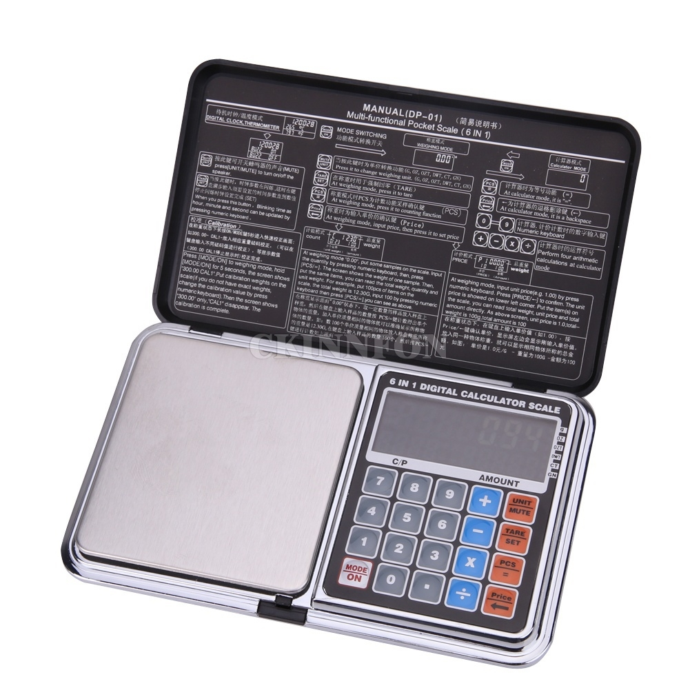 DHL 30PCS Newest Digital scale 6 in 1 multifunction LCD Digital precision measure 0 01G 500g