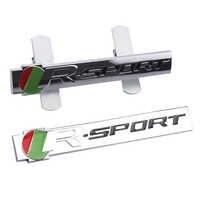 3D Metall R Sport Auto Kühlergrill Emblem Abzeichen Für Jaguar XFR XF Sportbrake F-Typ S-Typ svr S TYP Auto Aufkleber Auto Dekoration