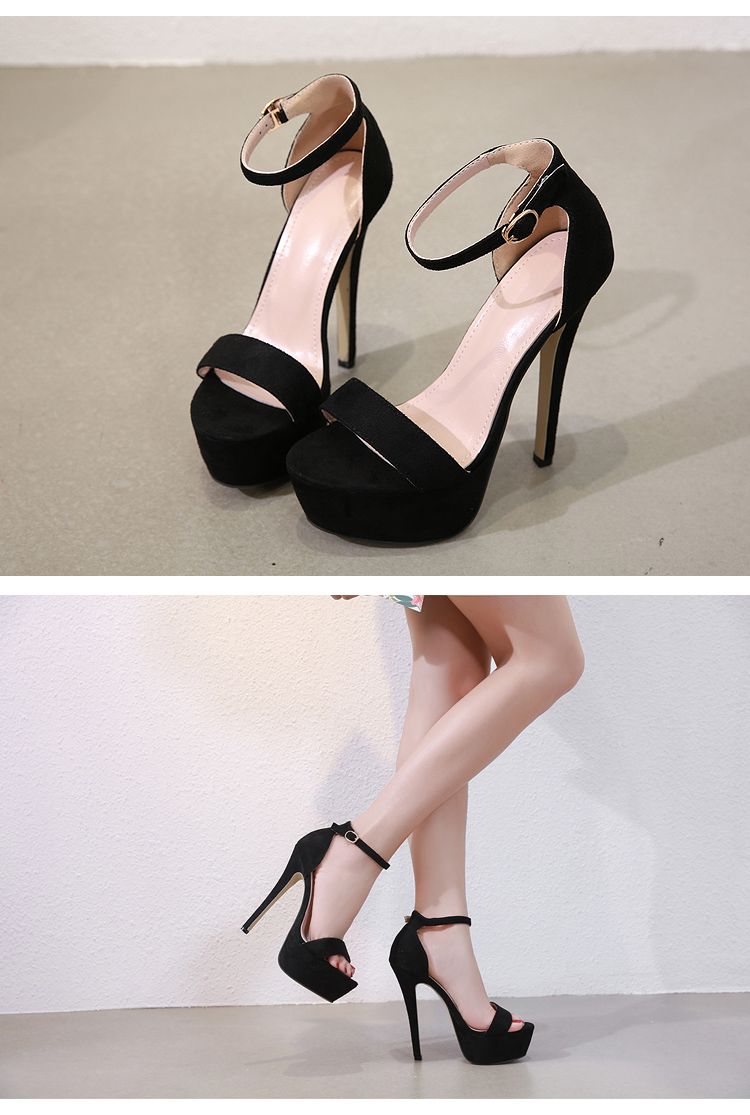 HTB1gGnXah2rK1RkSnhJq6ykdpXaP Aneikeh 2019 NEW 14.5CM Platform High Heels Sandals Summer Sexy Ankle Strap Open Toe Gladiator Party Dress Women Shoes Size 4-9