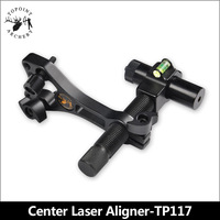 TOPOINT ARCHERY TP117 Compound Bow Red Laser Sight Aluminum Center Laser Aligner with 360 Degree Rotating Head and Body