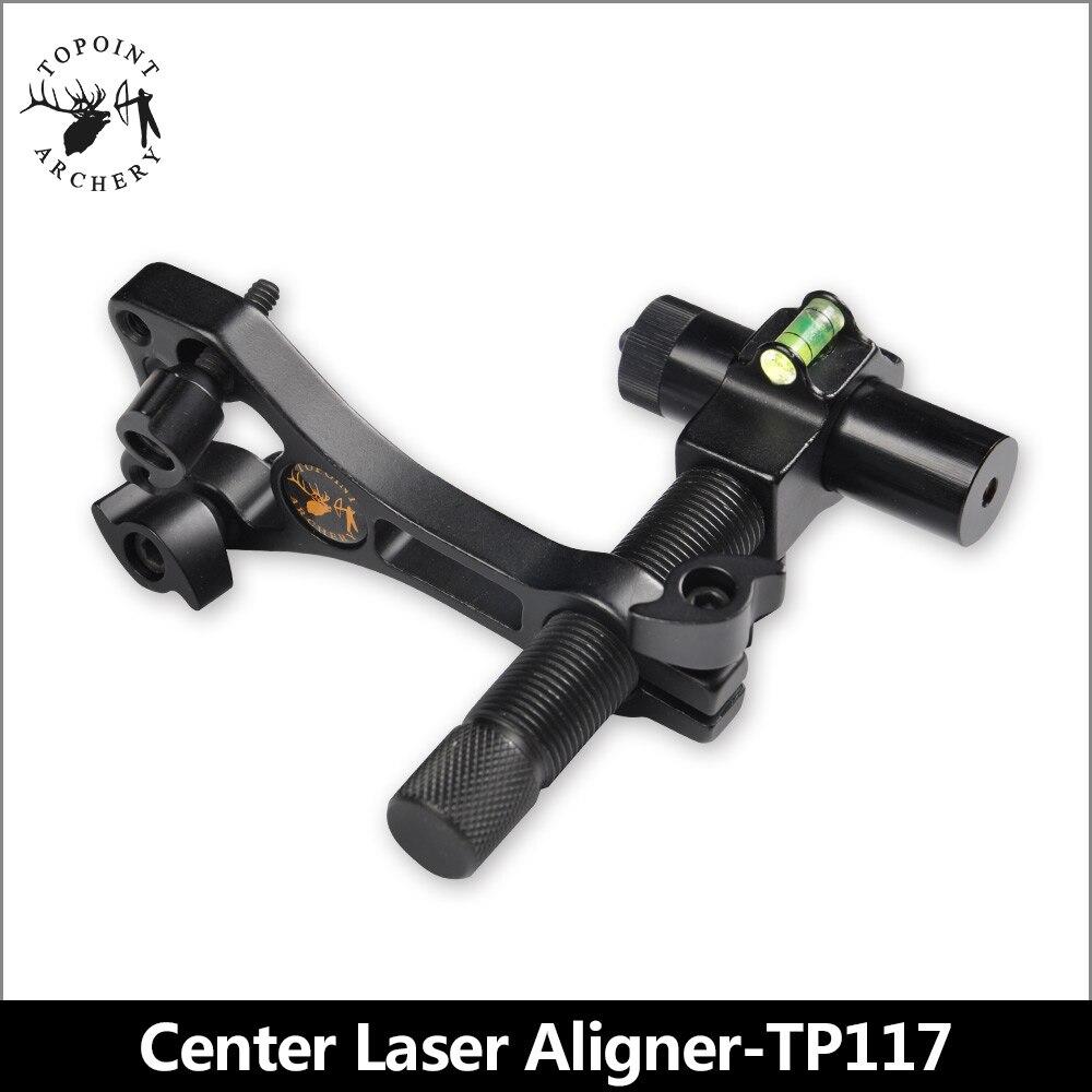 TOPOINT tir à l'arc TP117 arc composé rouge visée Laser Center en aluminium aligneur Laser avec tête et corps rotatifs à 360 degrés