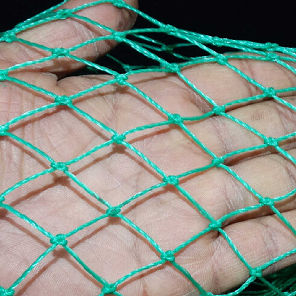 Thick Wire Made Fishing Net Bag Fish Mesh Protection Pocket Net Fishing Tackle Super Long 3m/2m/1.5m/1m green