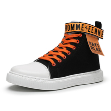 Exclusive New Hot Sale Mens Sneakers Fashion Canvas Shoes Flat High Top Casual  Breathable Cool Street Brand