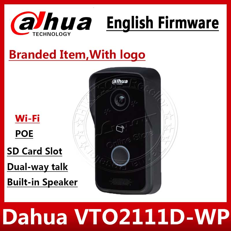 Dahua VTO2111D-WP English Version  P2P 1MP Wi-Fi Villa Video Intercom Outdoor Station With Logo Not VTO2111D-W VTH1550CH