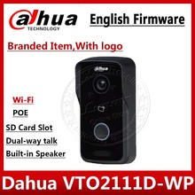 Видеодомофон Dahua, VTO2111D WP, английская версия, P2P, 1 МП, Wi Fi, вилла, видеодомофон, уличная станция с логотипом, не VTO2111D W, VTH1550CH