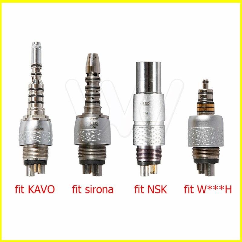 acoplamento rapido dental do acoplador do diodo emissor de luz apto kavo nsk sirona handpiece da