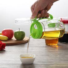 Большой бытовой стекла 620 мл утечка масленка масленка кухонных принадлежностей приправы бутылки бутылки масла уксус соус бутылки одного загруженного