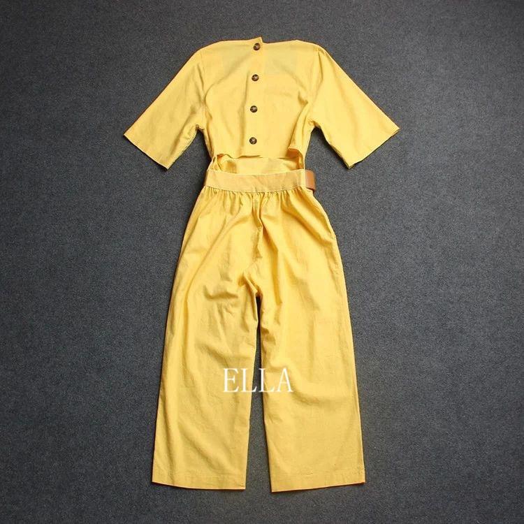 a1a83ea146 Summer fashion casual Siamese trousers Jumpsuits   Playsuits wide leg  cropped pants Capri Pants