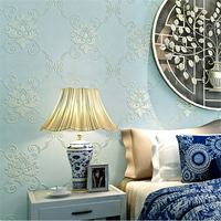 Beibehang High Quality European 3D Wallpaper Bedroom Living Room TV Sofa Background Wall Embossed Non Woven
