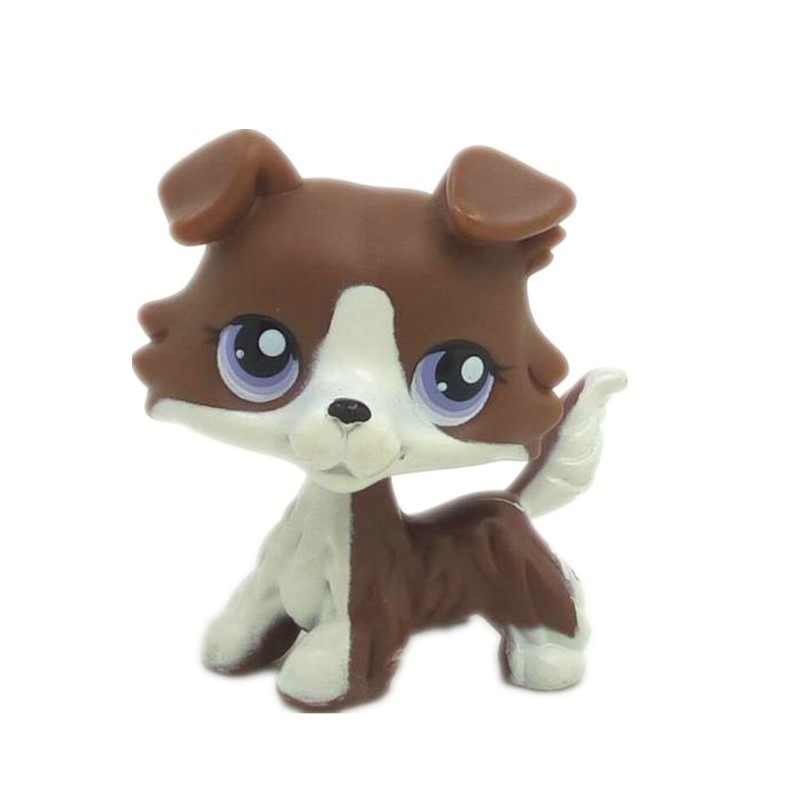 LOZ Cute Animal Littlest Pet  Puppy Blue Eyes  Collie Dog  lps Figure Toy for kids lps toy bag 25pcs pet shop animals cats puppy kids boy and girl action figures pvc lps toy birthday christmas gift 4 5cm