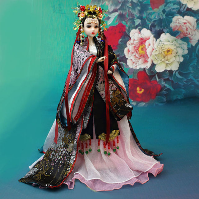 East Charm Chinese Style BJD with Gorgeous Clothes Stand Shoes Gift Box Fortune days Collection Free Shipping
