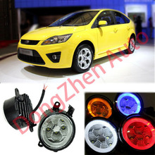 2015 new auto accessories car LED front fog lights strobe line group For Ford FOCUS 2009-2013 car styling parking