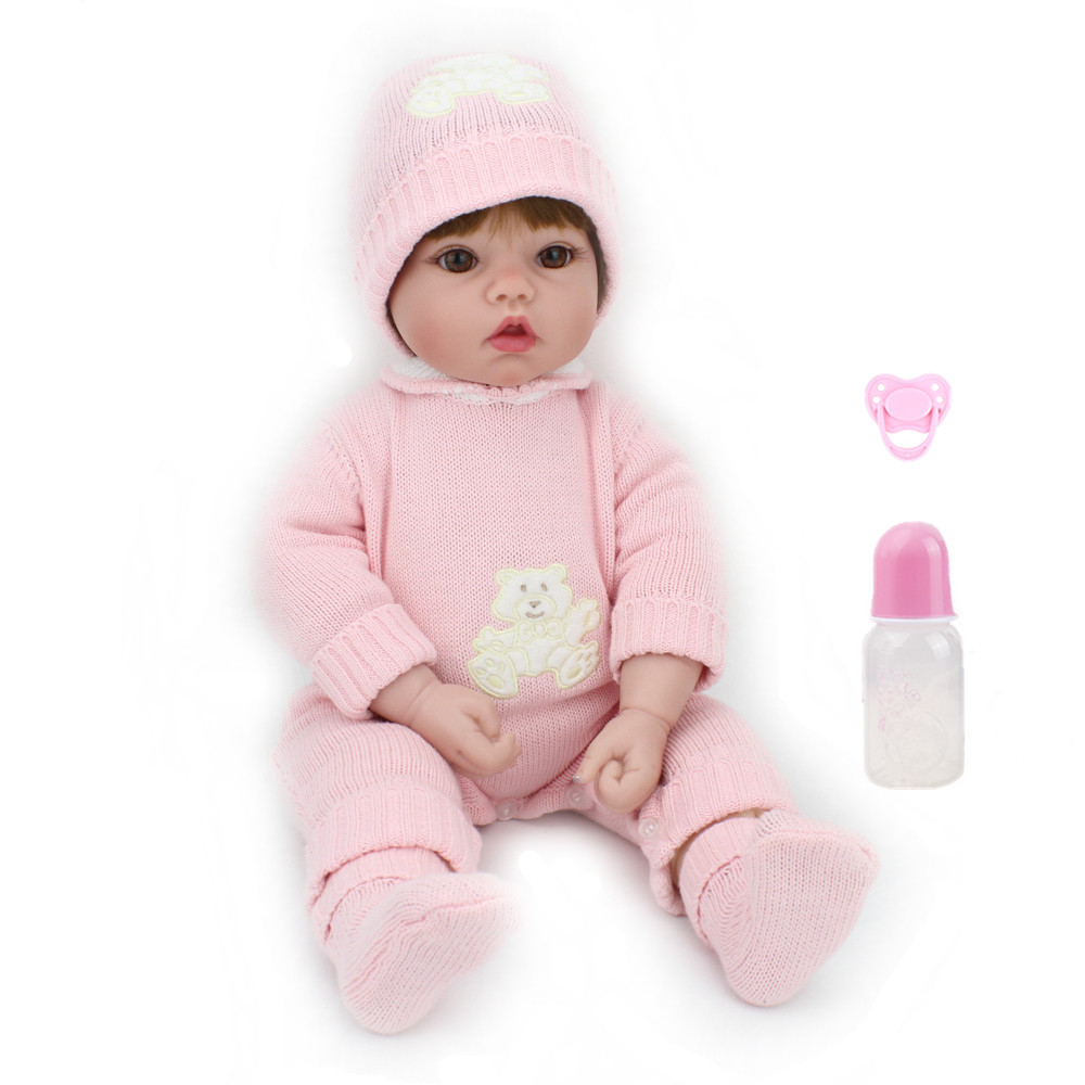 NPKDOLL 50cm 20 Soft Silicone Doll Reborn Baby Handmade BeBe Reborn Toy Girls Newborn Girl Baby