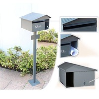 Australia Style Security Stand Mailbox Postbox Metal Outdoor Letterbox Garden Park Secure Mail box Letter Box Height 125cm 1056#