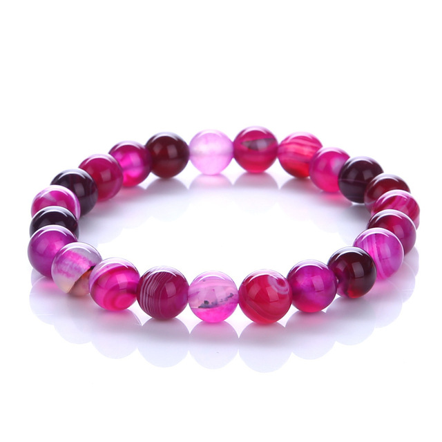 Purple Bracelet Natural Stone 1