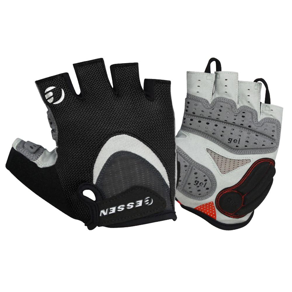 US Men Women Riding Racing Mountain Bike Cycling Half Finger Gloves Gel Padded