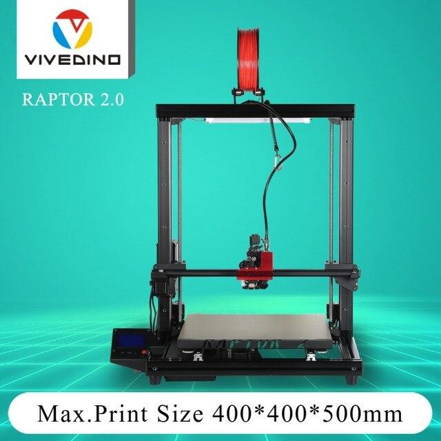 VIVEDINO Raptor 2.0 3D printers with Capricorn high-temp. PTFE tube and TMC2208 motor driver