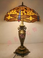 Direct manufacturers40 cm of European Dragonfly Table Lamp Tiffany bedroom bedside lamp room bar decoration art lighting