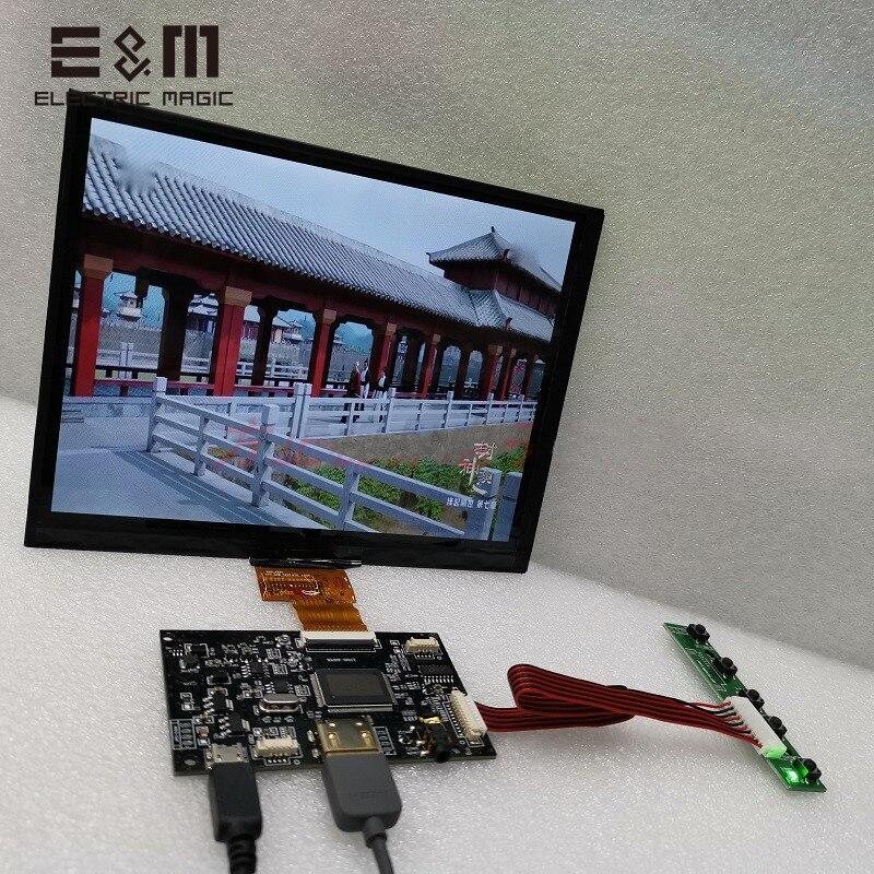 8 polegada 1024*768 Tela IPS Módulo de Exibição Do Monitor LCD HDMI Jogador USB para Raspberry Pi 3 Xbox