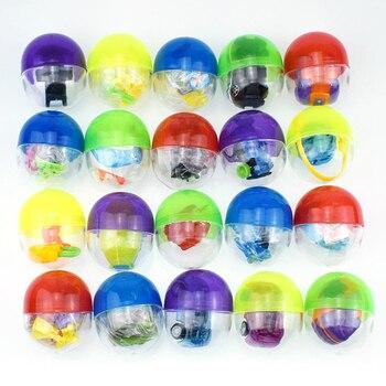 Caliente nuevo 10 uds/5 uds de plástico transparente pelota Sorpresa Juguete con capsulas con dentro de diferentes juguete para máquina expendedora regalo de los niños