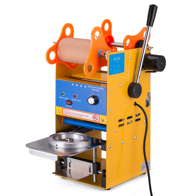 Stainless steel Precision Spring Platen Bubble Tea Cup Sealer Commercial Sealing Machine Fit for 75~90MM(2.95~3.74inch Power Tool Accessories     - title=