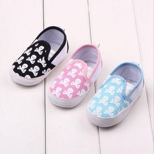 Fashion Newborn Baby Girl First Walkers Shoes Classic Skull Soft Soled Infant Toddler Boy Girl Shoes Bebe Kids Crib Shoes 0-1T