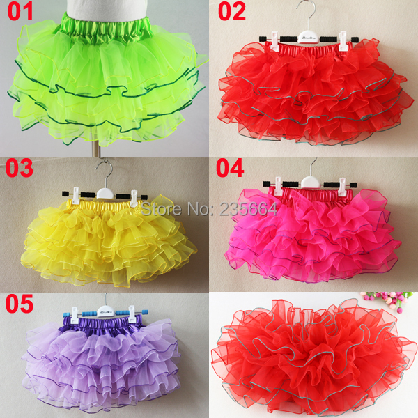 Organza Baby Girl Pettiskirt,5 Colors Skirt For Any Season, Tutu 1-10years image