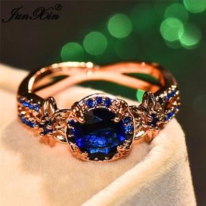 Милые женские кольца в стиле бохо с кристаллами, белые, синие, зеленые круглые кольца, модное кольцо из розового золота с цветком, обручальны...
