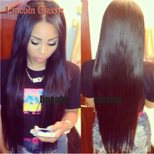 lincolnBeauty peruvian straight lace front wig 30 inch human hair full lace wig 130 150 density