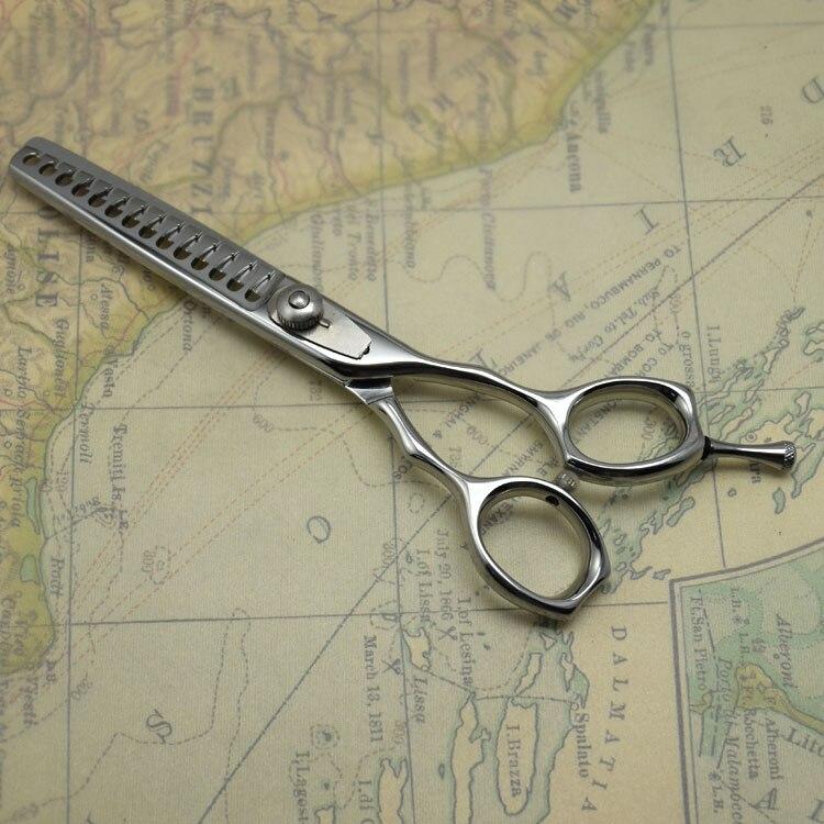 Бесплатная доставка! 14 зубьев Текстурирующая ножницы филировочные ножницы Япония, коего 6 Истончение для волос салона использования для ук...