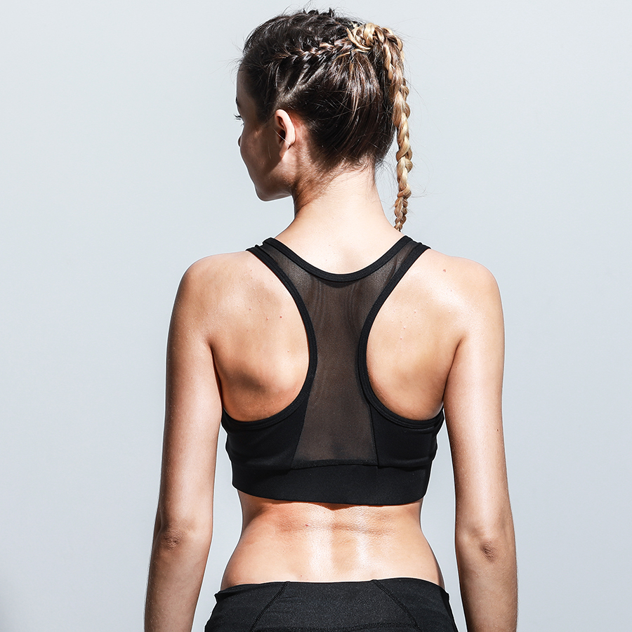 232d497e2feaf New Reflective Push Up Fitness Sport Bra High Support Shockproof Women  Brassiere Sports Top Yoga Fitness Running Gym Sportswear-in Sports Bras  from Sports ...