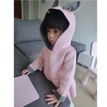 2016 new Korean autumn foreign children a girl on behalf of air layer rabbit coat