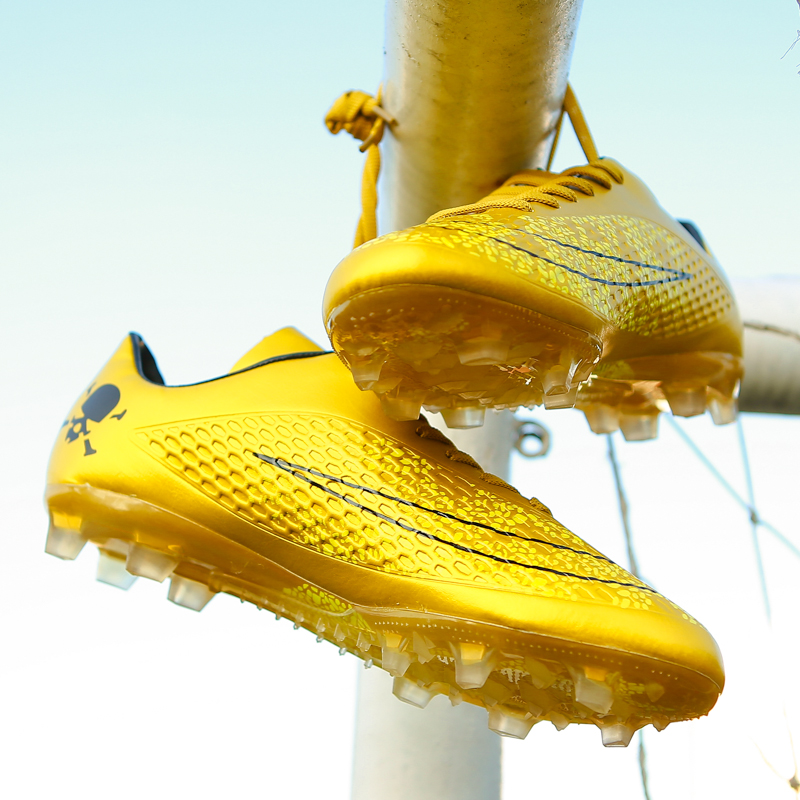 reputable site 747d1 f1aa1 US $19.94 5% OFF|Men Soccer Shoes Sport Ronaldo Breathable Women Spikes  Professional Kids Boys Superfly Cleats CR7 TF AG FG Football Sneakers-in ...