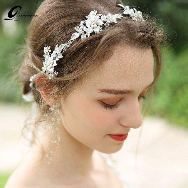 Wedding Tiara Bridal Hair Crown Freshwater Pearl Accessories Bride Jewelry Women Headwear