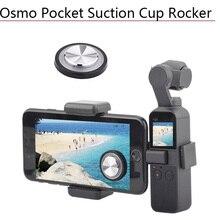 안정적인 조이스틱 전화 흡입 컵 로커 DJI Osmo 포켓/포켓 2 원격 버튼 엄지 스틱 핸드 헬드 짐벌 액세서리