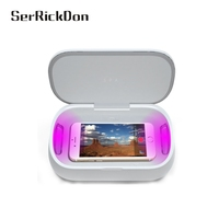 1 Pcs Ultraviolet Disinfection Sterilization Safe Manicure Cell Phone Disinfector Cabinet UV Sterillizer Box Christmas Gift