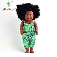 Usine mignon réel mode bébé poupées noir robe pour les filles enfants doux poupée de sécurité chine fournisseur noir poupées poupée petit jouets