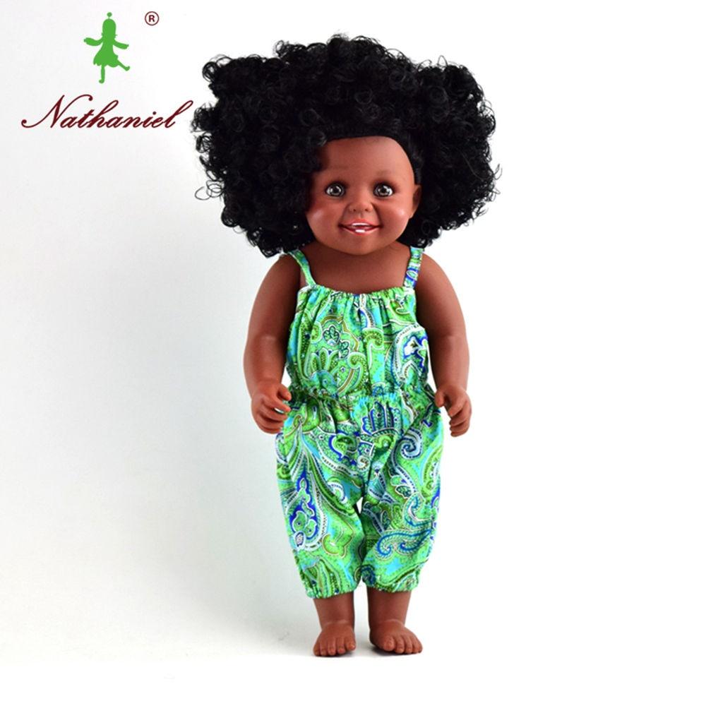Usine Mignonne Vraie Mode Bébé Poupées Noir Robe Pour Filles Enfants
