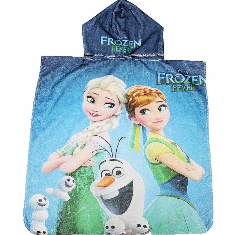 Disney Children Hooded Bath Towel Cartoon Mickey Minnie Mouse Frozen Elsa Cars Kids Boy Girl Cotton Soft Absorbent Beach Towel Attractive And Durable Garden Supplies Hanging Baskets