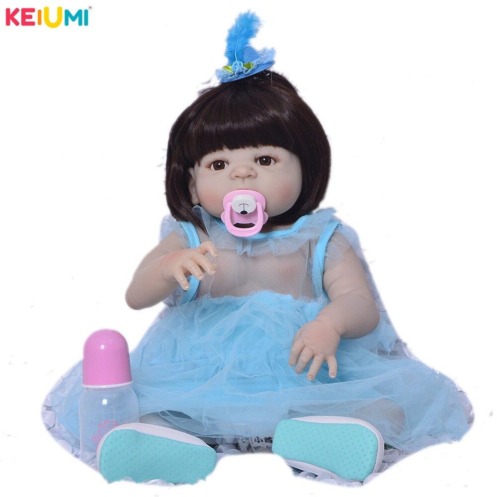57 cm corps entier Silicone Reborn fille bébé poupée nouveau-né 23 pouces princesse bébés poupées jumeaux baignade jouet bébé enfants jour cadeaux