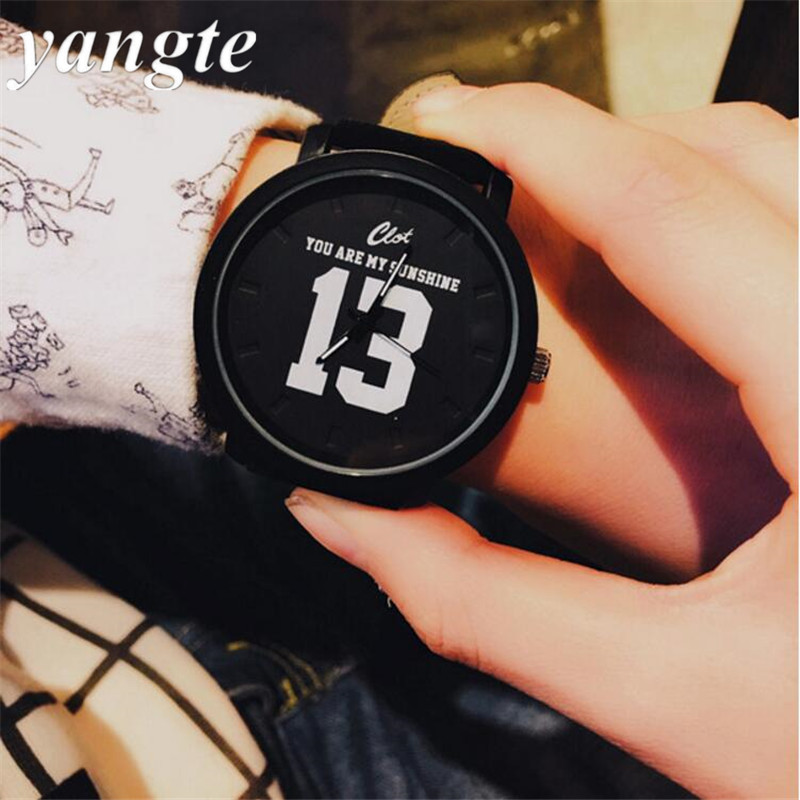 YANGTE Fashion 1314 Leather Strap Unisex Watches Men Quartz Women Dress Watch Sports Military Relojes Geneva Wristwatch AB929 new geneva men watch women casual sports clock wristwatch relogio feminino unisex faux leather quartz watch relojes as gift
