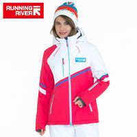 ランニング川ブランドフード付き女性スキージャケット高品質プロフェッショナルスポーツ服女性屋外スポーツジャケット# A5030