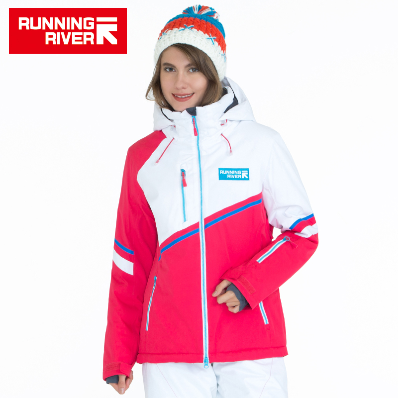 RUNNING RIVER Brand Hooded Women Ski Jacket High Quality Professional Sports Clothing Woman Outdoor Sports Jackets #A5030 running river brand winter thermal women ski down jacket 5 colors 5 sizes high quality warm woman outdoor sports jackets a6012