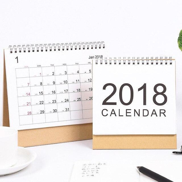 muji style simple desk calendar 2017 2018 rainlendar weekly planner
